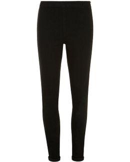 Black 'lyla' High Waisted Tube Pants