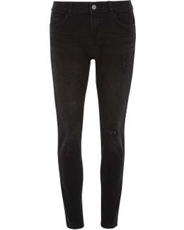 Black 'casey' Slim Fit Jeans