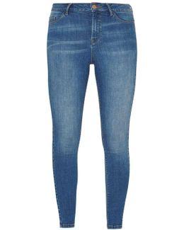 Blue 'cody' Mid Wash Skinny Jeans