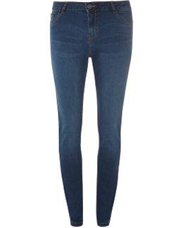 Indigo Washed 'ashley' Straight Jeans
