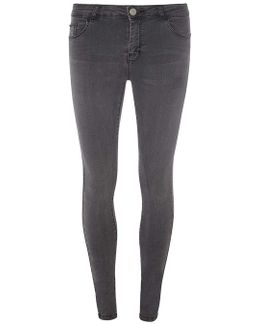 Washed Black 'ashley' Skinny Jeans