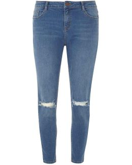 Midwash Rip Darcy Ankle Jeans
