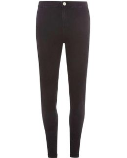 Tall Black Fly Front Lyla - High Waisted Tube Jeans