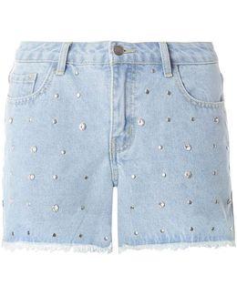 Light Wash Denim Gem Shorts