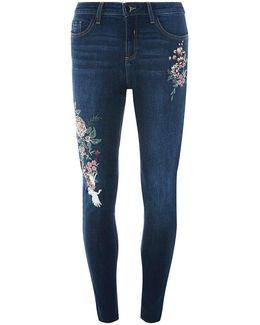 Indigo Oriental Embroidered Jeans