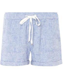 Chambray Linen Shorts