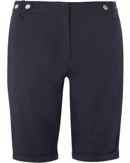 Navy Knee Length Shorts