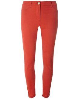 Orange Sateen Chino Trousers