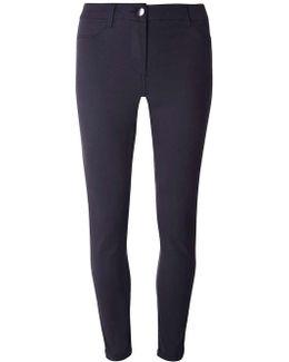 Navy Sateen Chino Trousers