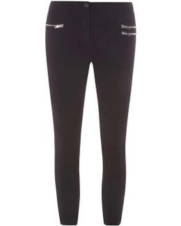 Petite Black Bengaline Trousers