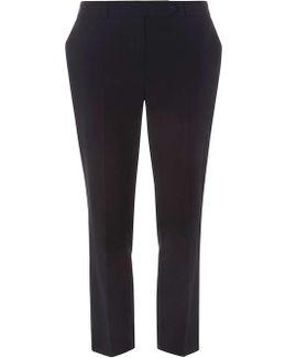 Petite Black Straight Leg Trousers