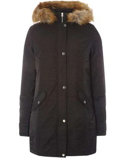 Tall Charcoal Padded Coat