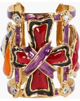 Embellished Metal Bracelet Cuff