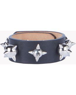 Spiked Leather Cuff