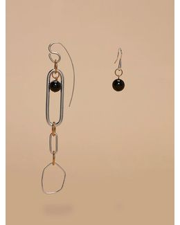 Asymmetric Ring Earrings