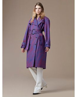 Long-sleeve Belted Collared Trench