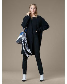 Long Sleeve Oversized Knit Coat