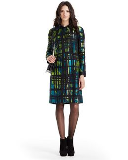 Dvf Amana Two Jacquard Coat
