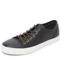 Brett Low Leather Sneakers