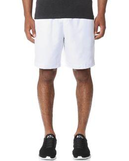 Diamond Weave Taffeta Tennis Shorts