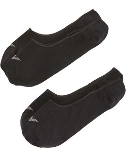 2 Pack Basic Invisible Loafer Socks