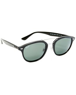 Double Bridge Square Sunglasses