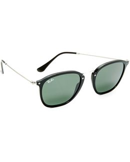 Metal Bridge Round Sunglasses