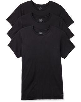3 Pack Cotton Classic Crew Neck T-shirts