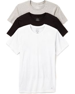 3 Pack Cotton Classic Crew Neck T-shirts