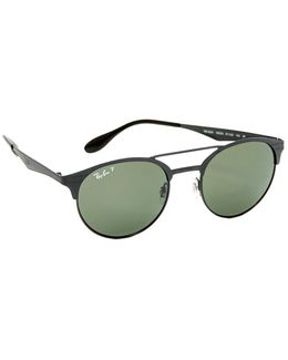 Double Bridge Round Polarized Sunglasses