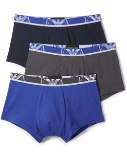 3 Pack Stretch Cotton Trunks