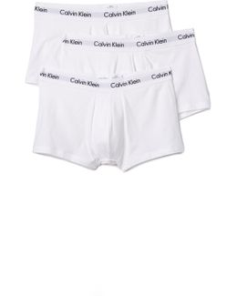 Cotton Stretch 3 Pack Low Rise Trunks