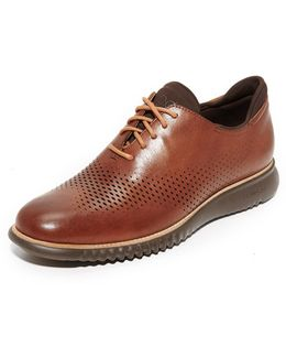 2.zerogrand Laser Perforated Wingtip Oxfords