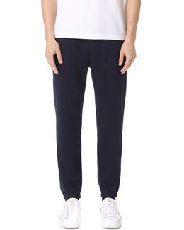 Sport Fleece Pants With Elastic Leg Opening