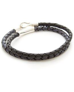 Leather Braided Colorblock Bracelet