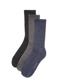 3 Pack Cushion Sole Crew Socks