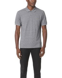 Short Sleeve Classic Fit Chine Polo Shirt