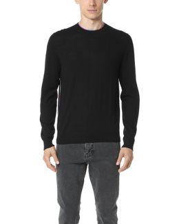 Sweater With Multi Stripe Trim