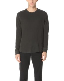 Double Knit Long Sleeve Crew Tee