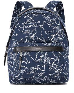 Grant Palm Print Backpack