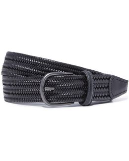 Stretch Woven Leather Belt