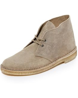 Distressed Suede Desert Boots