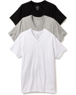 3 Pack Cotton Classic V-neck T-shirts