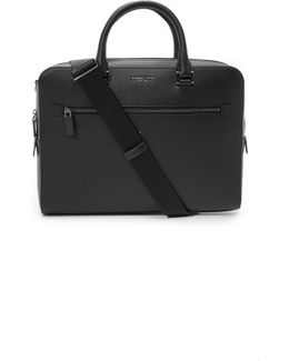 Harrison Front Zip Leather Briefcase