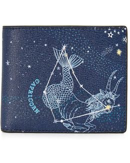 Capricorn Leather Astrology Billfold