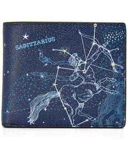 Sagittarius Leather Astrology Billfold
