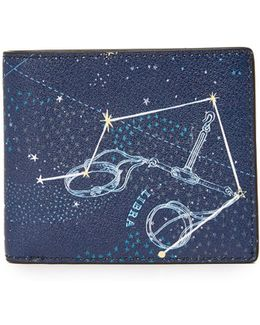 Libra Leather Astrology Billfold