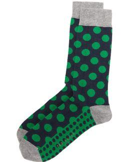 Edge Polka Dot Socks