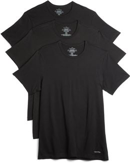 3 Pack Cotton Classic Crew Neck Tees