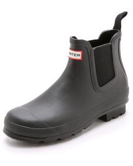 Original Men ́s Waterproof Chelsea Dark Sole Waterproof Rain Boots